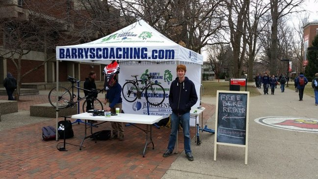 On-campus free bicycle repair!