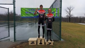 Rikus Van Zyl and John Hayden finished 1st and 3rd in the Mens' Category 5 race at Long Run Park