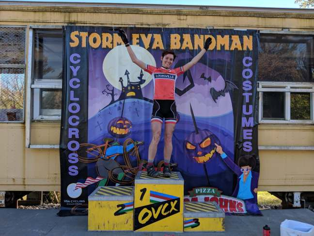 alison mackenzie mundell on the u23 podium of storm eva bandman 2018 ovcx