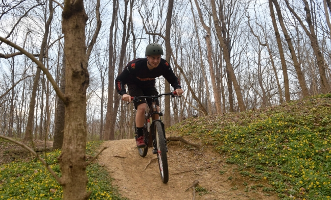 James Francisco earned 10th place for the University of Louisville at the 2018 Collegiate Mountain Bike National Championships, UofL Cycling, USA Cyclling