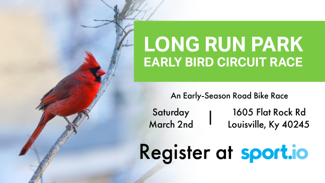 The University of Louisville Student Cycling Coalition is proud to host the Long Run Park Early Bird Circuit Race March 2nd 2019