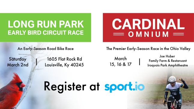 University of Louisville will host the Cardinal Omnium and the Long Run Early Bird